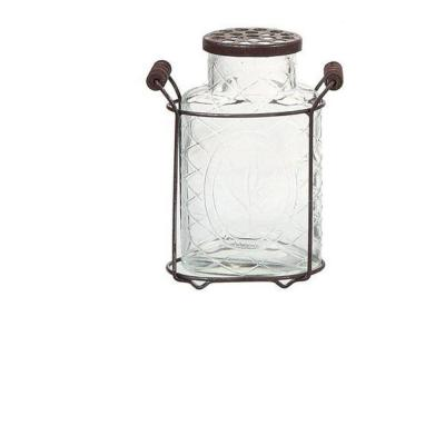 Home Decorators Collection 7.25 in. Glass Jar Vase in Clear