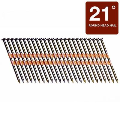 Grip-Rite 3-1/4 in. x 0.131-Gauge Plastic Bright Steel Smooth Shank Round Framing Nails (4,000 per Box)