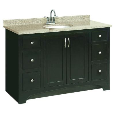 Design House Ventura 48 In W X 21 In D Unassembled Vanity Cabinet Only In Espresso
