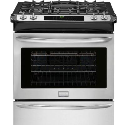 Frigidaire Gallery 30 in. 4.5 cu. ft. Slide-In Gas Range with Self-Cleaning Convection Oven in Stainless