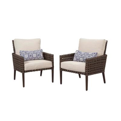Hampton Bay Raynham Patio Lounge Chairs Set Of 2 Dy12091 L The Home Depot