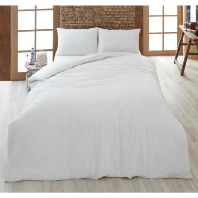 A1HC Organic Duvet Cover Set, 2-Piece white Single Ply, Long Staple 100% Organic Cotton Twin, Duvet Set