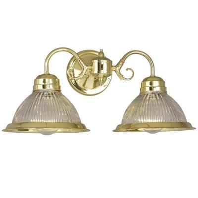 Polished Brass Vanity Lights Bathroom : Filament Design Negron 2-Light Polished Brass Incandescent Bath Vanity Light-CLI-XY5210686 - The ...
