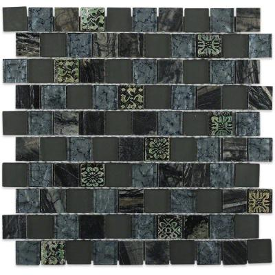 Inheritance Afternoon Shadow Marble and Glass Mosaic Wall Tile - 3