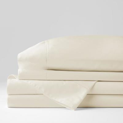 Organic Solid 300-Thread Count Cotton Sateen Sheet Set