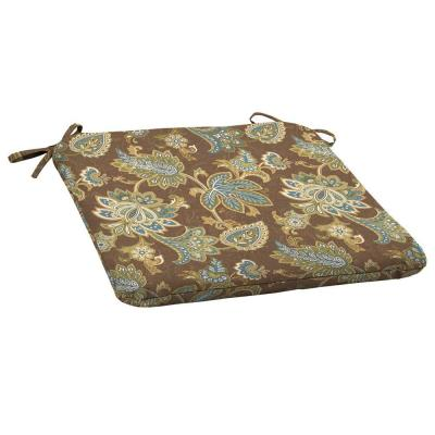 Arden Lakeside Floral Wrought Outdoor Iron Seat Cushion 2 Pack-DISCONTINUED