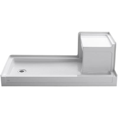 Tresham 60 in. x 32 in. Single Threshold Shower Base with Left Drain in White Product Photo