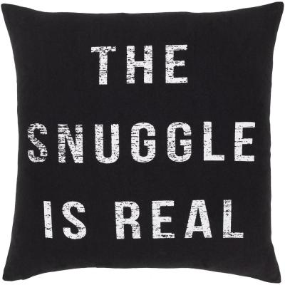 Text Graphic Polyester Throw Pillow