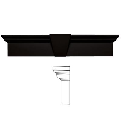 9 in. x 43-5/8 in. Flat Panel Window Header with Keystone in 002 Black Product Photo