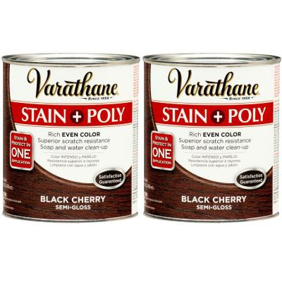 Varathane 1 Qt. Black Cherry Wood Stain and Polyurethane (2-Pack)-DISCONTINUED