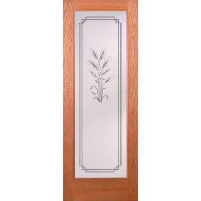 Harvest Woodgrain 1 Lite Unfinished Cherry Interior Door Slab