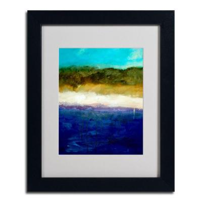 Trademark Fine Art 16 in. x 20 in. Abstract Dunes Study Black Framed Matted Art