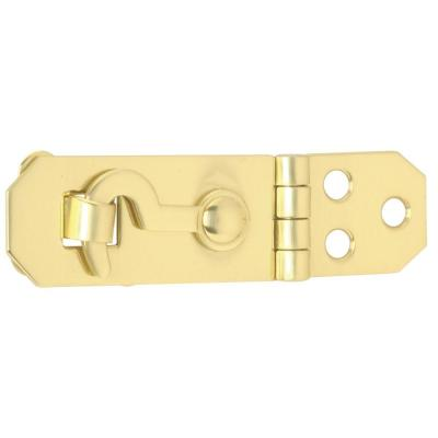 3/4 in. x 2-3/4 in. Solid Brass Hasp with Hook