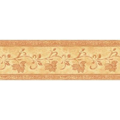 6.83 in. x 15 ft. Orange Transitional Vine Border Product Photo