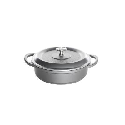 Nordic Ware Pro Cast Traditions Enameled Cast 3 qt./10 in. Braiser Pan with Cover Slate