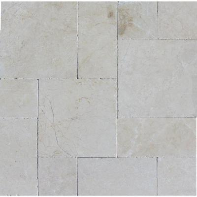 Aegean Pearl Pattern 16 in. x 24 in. Tumbled Marble Paver Kit (10 Kits / 160 Sq. ft. / Pallet) Product Photo