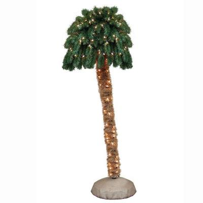General Foam 6 ft. Pre-Lit Palm Artificial Christmas Tree with Clear Lights