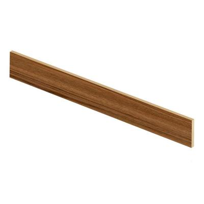Teak 47 in. Long x 1/2 in. Deep x 7-3/8 in. Height Vinyl Riser to be Used with Cap A Tread Product Photo