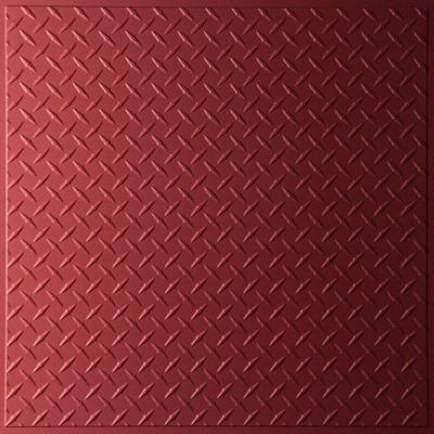 Diamond Plate Merlot 2 ft. x 2 ft. Lay-in or Glue-up