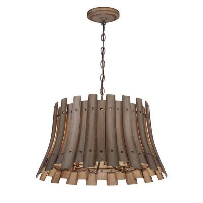 Eurofase Panello Collection 6-Light Wood Chandelier-26364 ...