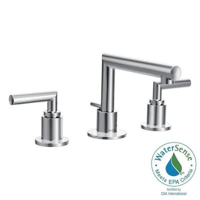 Arris 8 in. Widespread 2-Handle Bathroom Faucet Trim Kit in Chrome (Valve Sold Separately) Product Photo