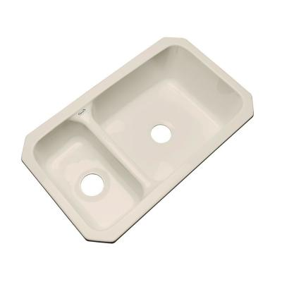 Thermocast Wyndham Undermount Acrylic 33 in. Double Bowl Kitchen Sink in Candle Lyte