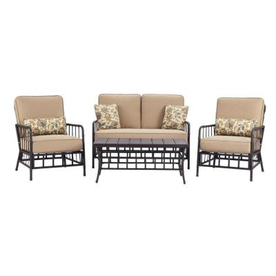 Martha Stewart Living Bryant Cove 4 Piece Patio Seating Set Dybc 4pc The Home Depot