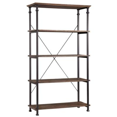 Grove Place 4-Shelf Bookcase in Distressed Cocoa Product Photo