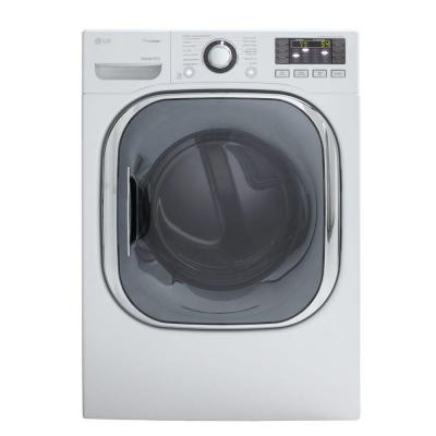 LG Electronics 7.4 cu. ft. Gas Dryer with Steam in White