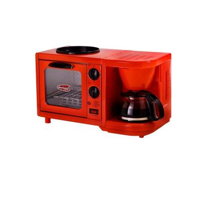 Cuisine 4-Cup Coffee Maker with Oven and Griddle in Red