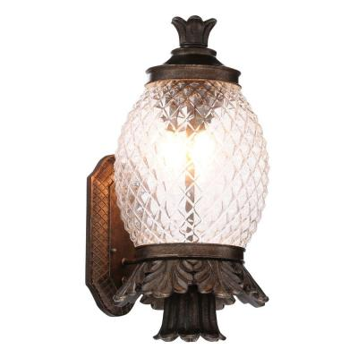 Wall-Mount 21 in. Bronze Outdoor Pineapple Coach Light Product Photo