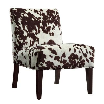 Homesullivan cowhide print accent chair 40468f23s 3a the home depot
