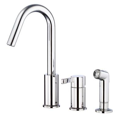 amalfi single handle kitchen faucet in chrome d409030 the home depot