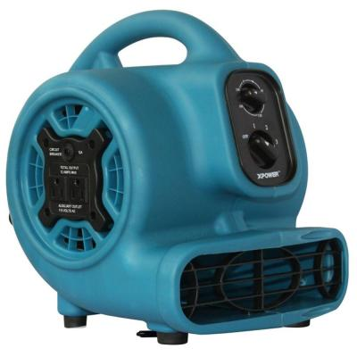 XPOWER Mini 800 CFM 7.25 in. Air Mover with Daisy Chain and 3-Hour Timer