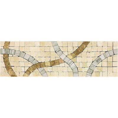 Daltile Stone Decorative Accents Confetti Parade 2-3/4 in. x 9-1/4 in. Marble Accent Wall Tile