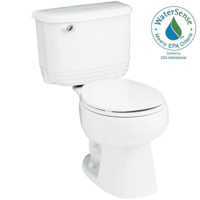 Riverton 2-piece 1.28 GPF Single Flush Round Toilet in White