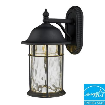 Lapuente Matte Black Outdoor LED Wall Sconce
