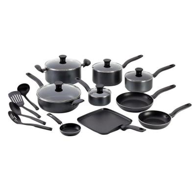 T-Fal Initiatives 18-Piece Cookware Set in Grey