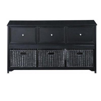 Oxford 3-Drawer File Cabinet in Black
