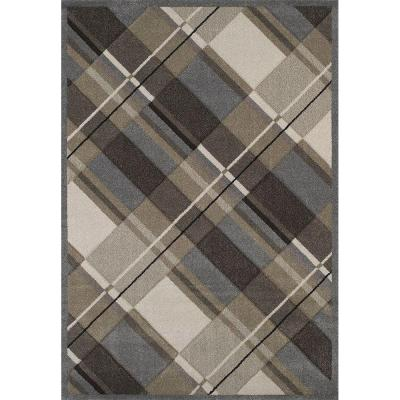 United Weavers Journey Grey 7 ft. 10 in. x 11 ft. 2 in. Area Rug