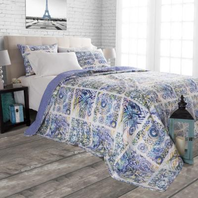 Melody Geometric 300-Thread Count Polyester Quilt