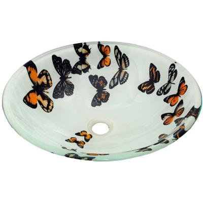 Allure Vessel Sink in Butterfly-AS-8995 - The Home Depot