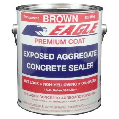 1 gal. Premium Coat Brown Tinted Semi-Transparent Glossy Solvent Based Acrylic