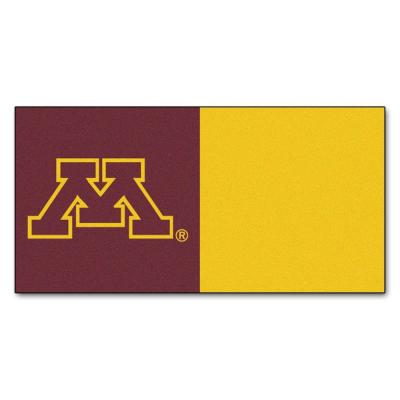 SPORTS LICESNING SOLUTIONS NCAA - University of Minnesota Maroon and Gold Nylon 18 in. x 18 in. Carpet Tile (20 Tiles/Case)