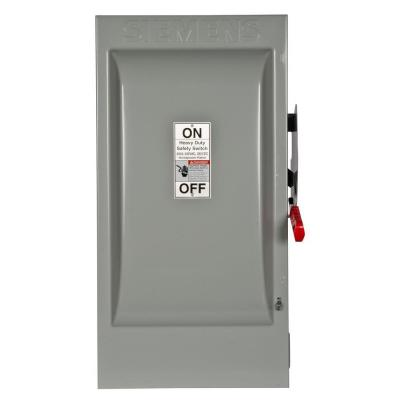 Heavy Duty 200 Amp 240-Volt 3-Pole Indoor Fusible Safety Switch with Neutral Product Photo