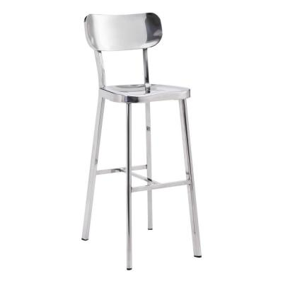 Winter Stainless Steel Bar Chair in Polished Stainless Steel