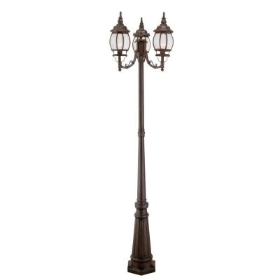 Filament Design Providence 3-Light Outdoor Imperial Bronze Incandescent Post Light