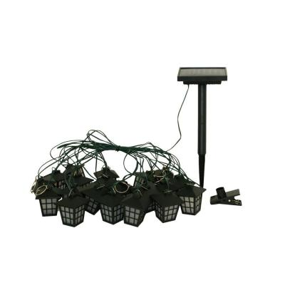 Smart Solar San Rafael Lantern String Light with Stake and Umbrella Clips(20-Piece)