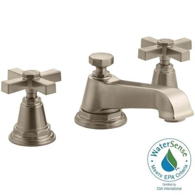 Pinstripe 8 in. Widespread 2-Handle Water-Saving Bathroom Faucet in Vibrant