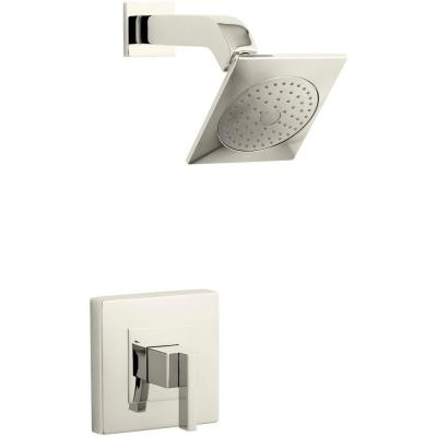 Loure 1-Handle Shower Faucet Trim Kit in Vibrant Polished Nickel (Valve